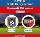 Affiche Bayeux FC rencontre Evreux