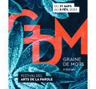 Affiche du 9e festival Graine de Mots à Bayeux