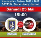 Affiche du match Bayeux - Evreux