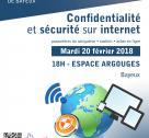 Affiche soirée numérique confidentialité et sécurité sur internet