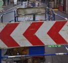 Panneau Travaux à Bayeux