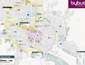Plan ligne été bybus à Bayeux