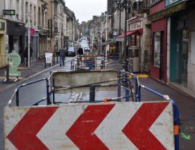 Travaux rue Saint-Jean à Bayeux