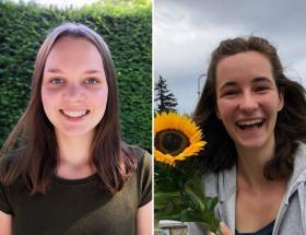 Emily et Emma, corps européen de solidarité à Bayeux
