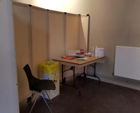 Centre de dépistage COVID-19 à Bayeux