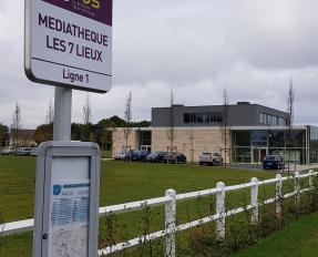 Nouvel arrêt Bybus à la médiathèque Les 7 lieux à Bayeux