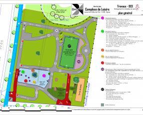 Plan des travaux de l'aire de loisirs de la Vallée des Prés