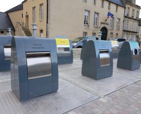 Containers enterrés rue des Teinturiers à Bayeux