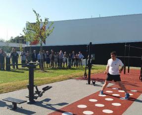 Inauguration de l'aire de fitness le 9 juillet 2019 à Bayeux