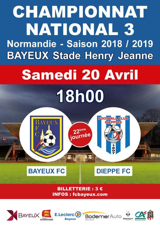 Affiche du match Bayeux - Dieppe