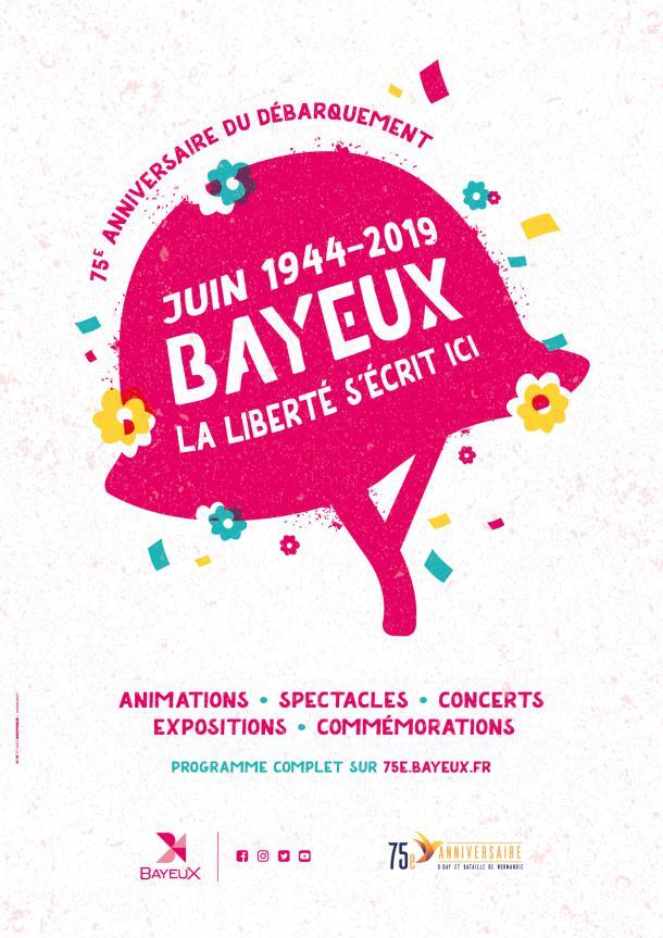 Affiche du 75e anniversaire de la Libération de Bayeux