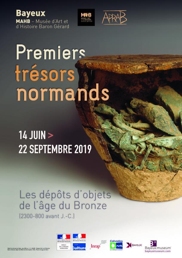 Affiche de l'exposition au MAHB été 2019 à Bayeux
