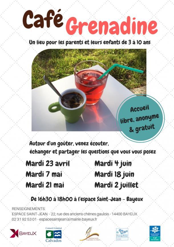 Affiche des prochains Café Grenadine à Bayeux