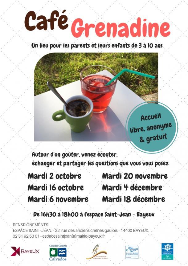 Affiche Café Grenadine à Bayeux