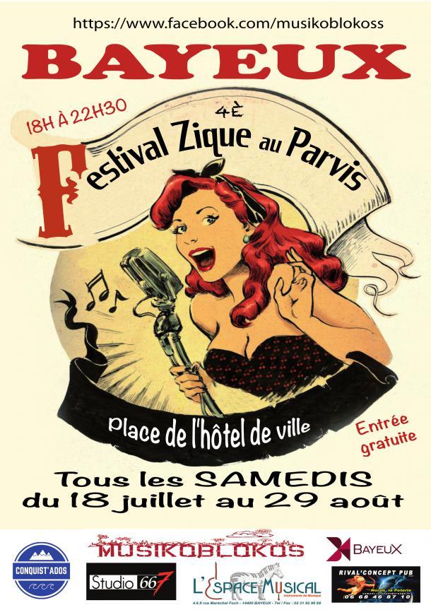 Affiche 2020 Zique au Parvis à Bayeux
