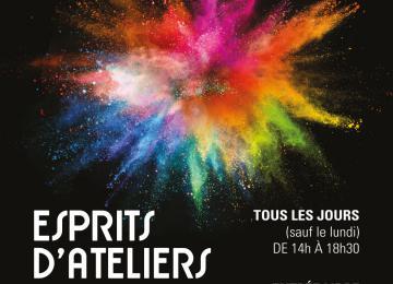 Affiche de l'exposition collaborative Esprits d'ateliers
