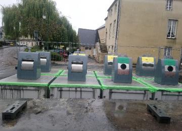Containers enterrés rue des Teinturiers