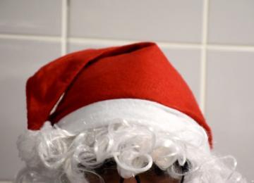 Le Père Noël se prépare pour les Galopades à Bayeux
