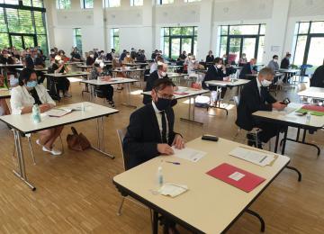 Conseil municipal d'installation le 25 mai 2020 à Bayeux
