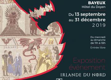 Visuel de l'exposition événement Tapisserie Game of Thrones à Bayeux