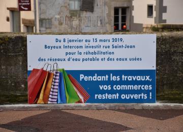 Durant les travaux, vos commerces restent ouverts à Bayeux