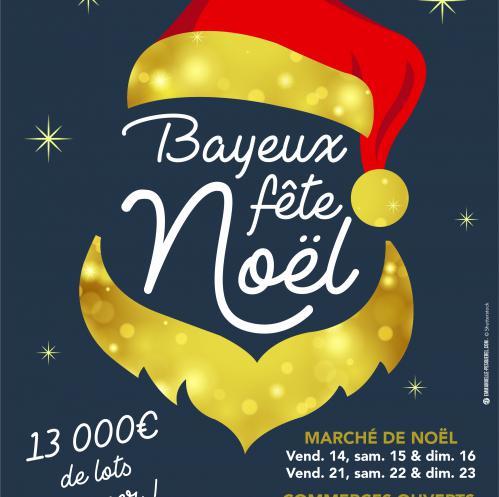 Affiche de Bayeux fête Noël 2018