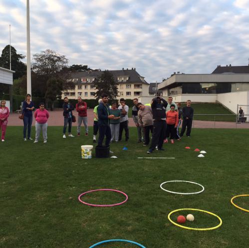 Premier entrainement pour les membres de l'association Bayeux Sport Adapté