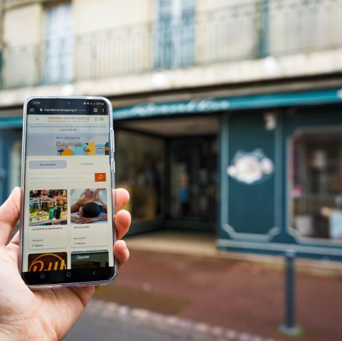 Application Ma ville mon shopping à Bayeux
