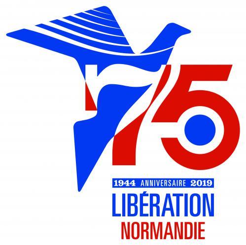 Sticker pour voitures le 6 juin 2019 dans le cadre du 75e anniversaire