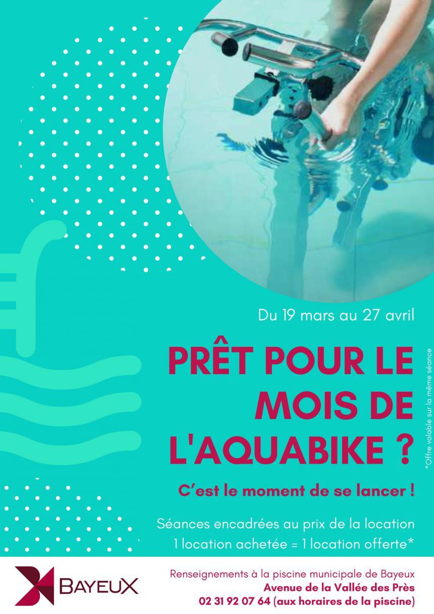 Affiche mois de l'aquabike Bayeux