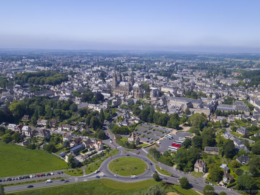 La ville de Bayeux vue du ciel