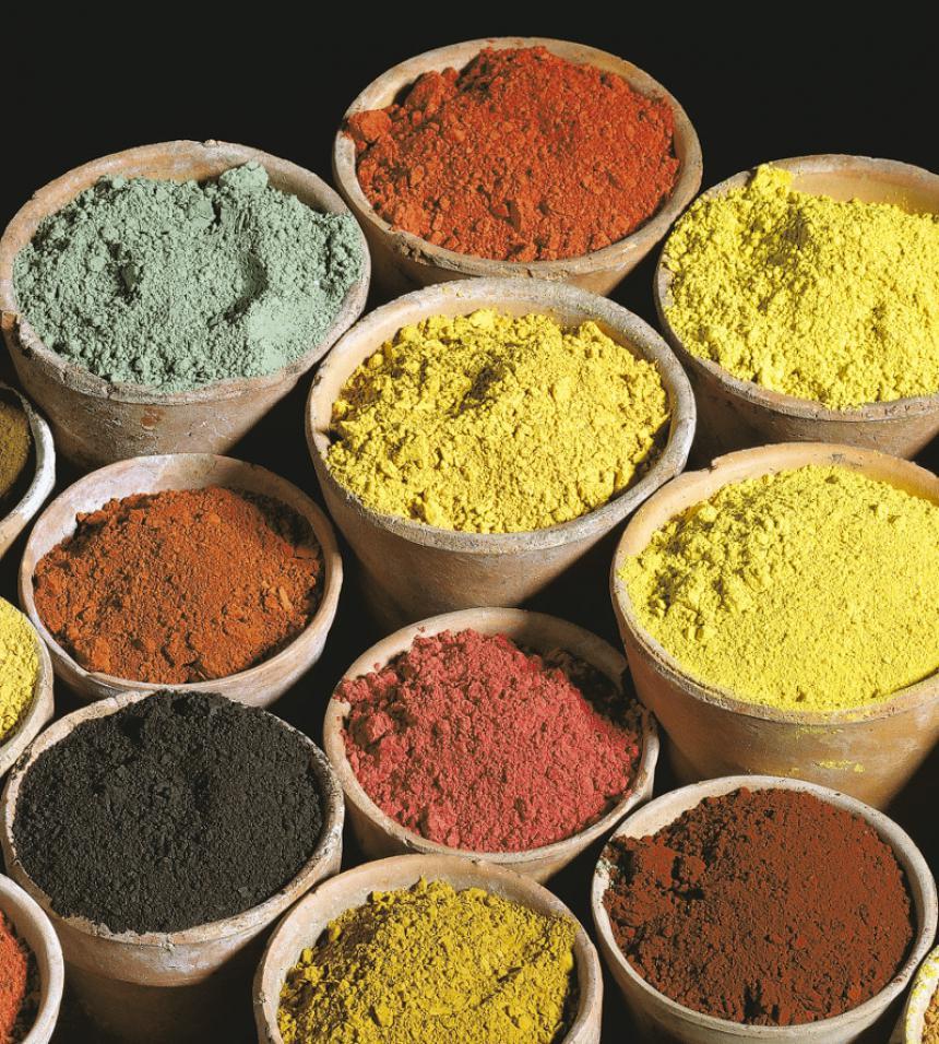 Ocres de l'association Terres et couleurs