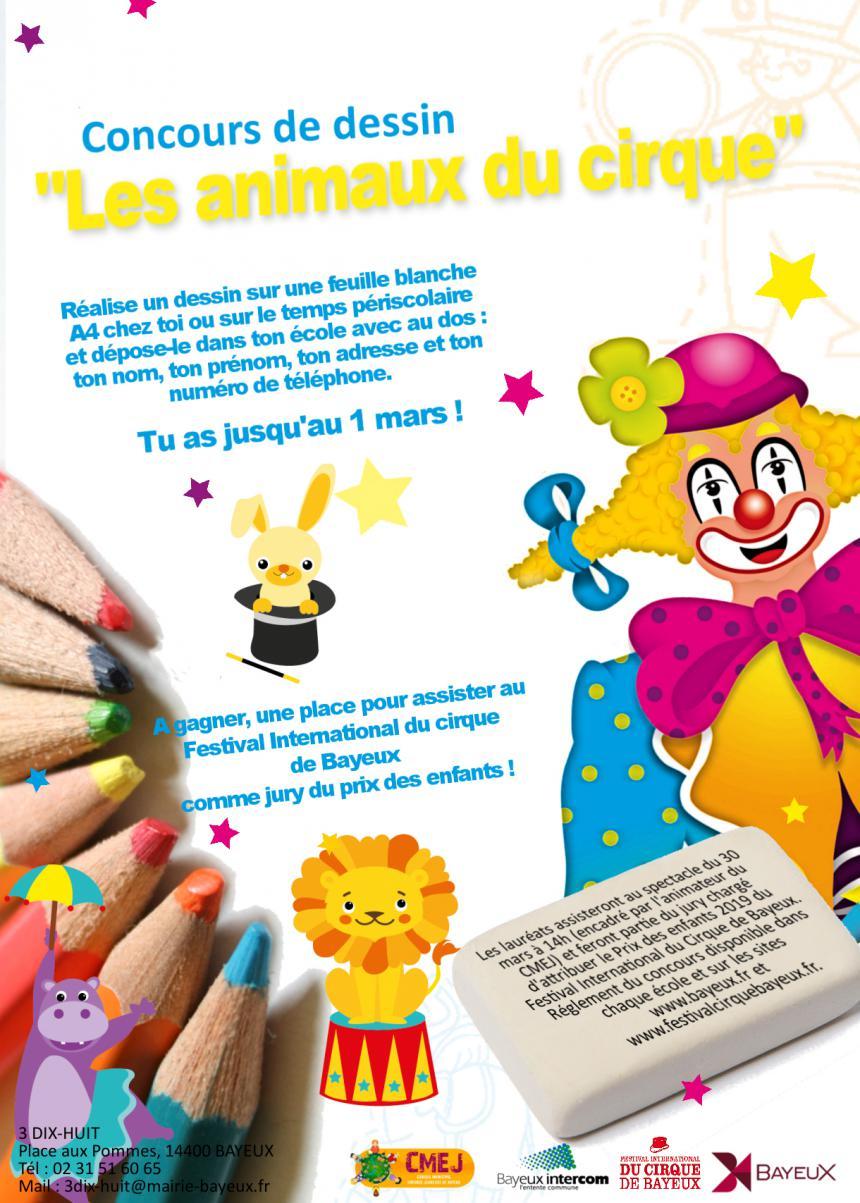 Affiche du concours de dessin organisé à Bayeux