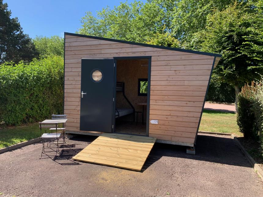Cabane rando pour cyclotouristes au camping municipal de Bayeux