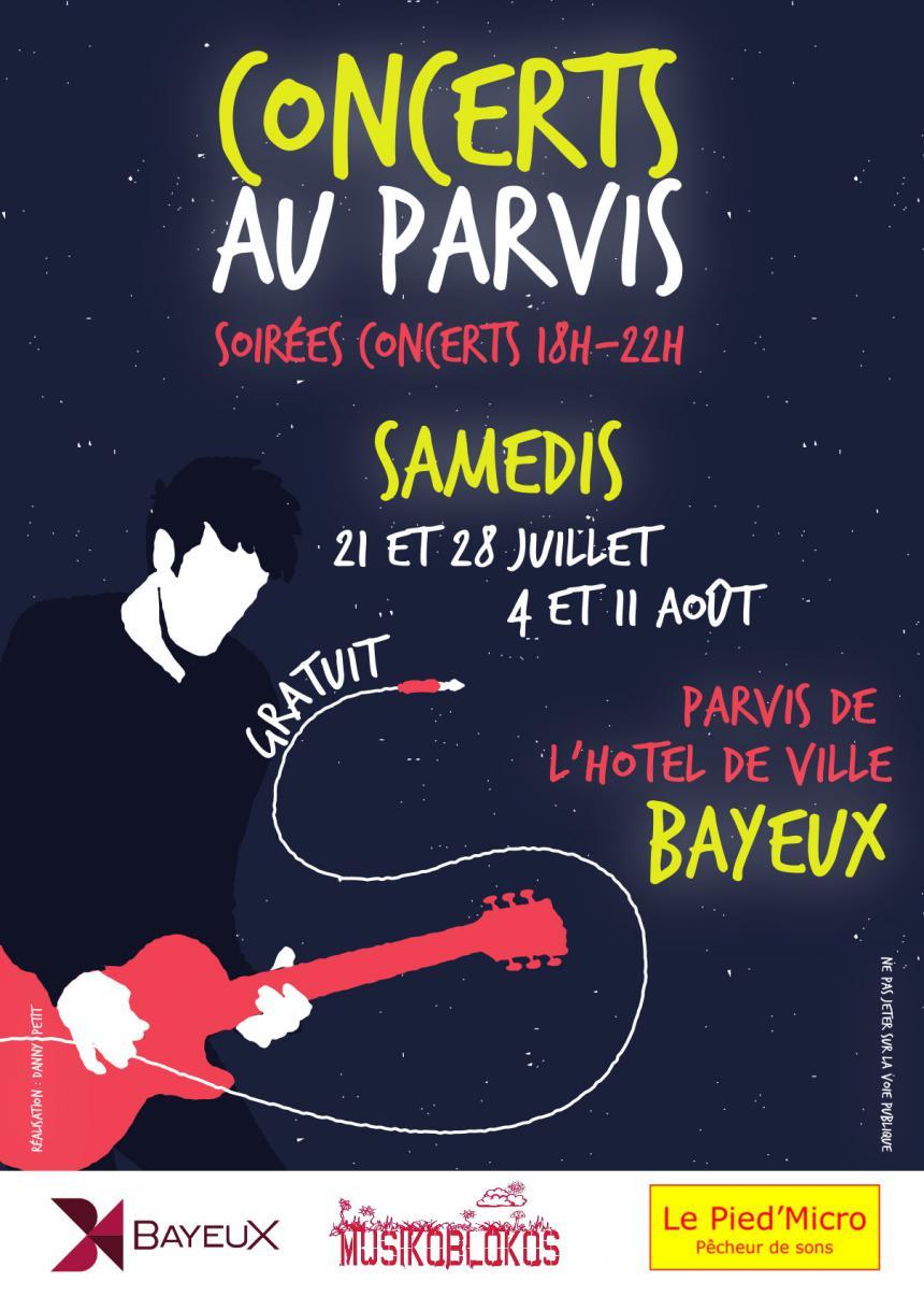 Visuel Concerts au parvis Bayeux