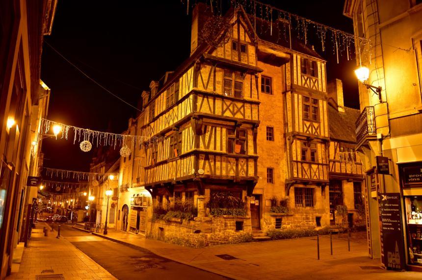 Eclairage dans le centre de Bayeux