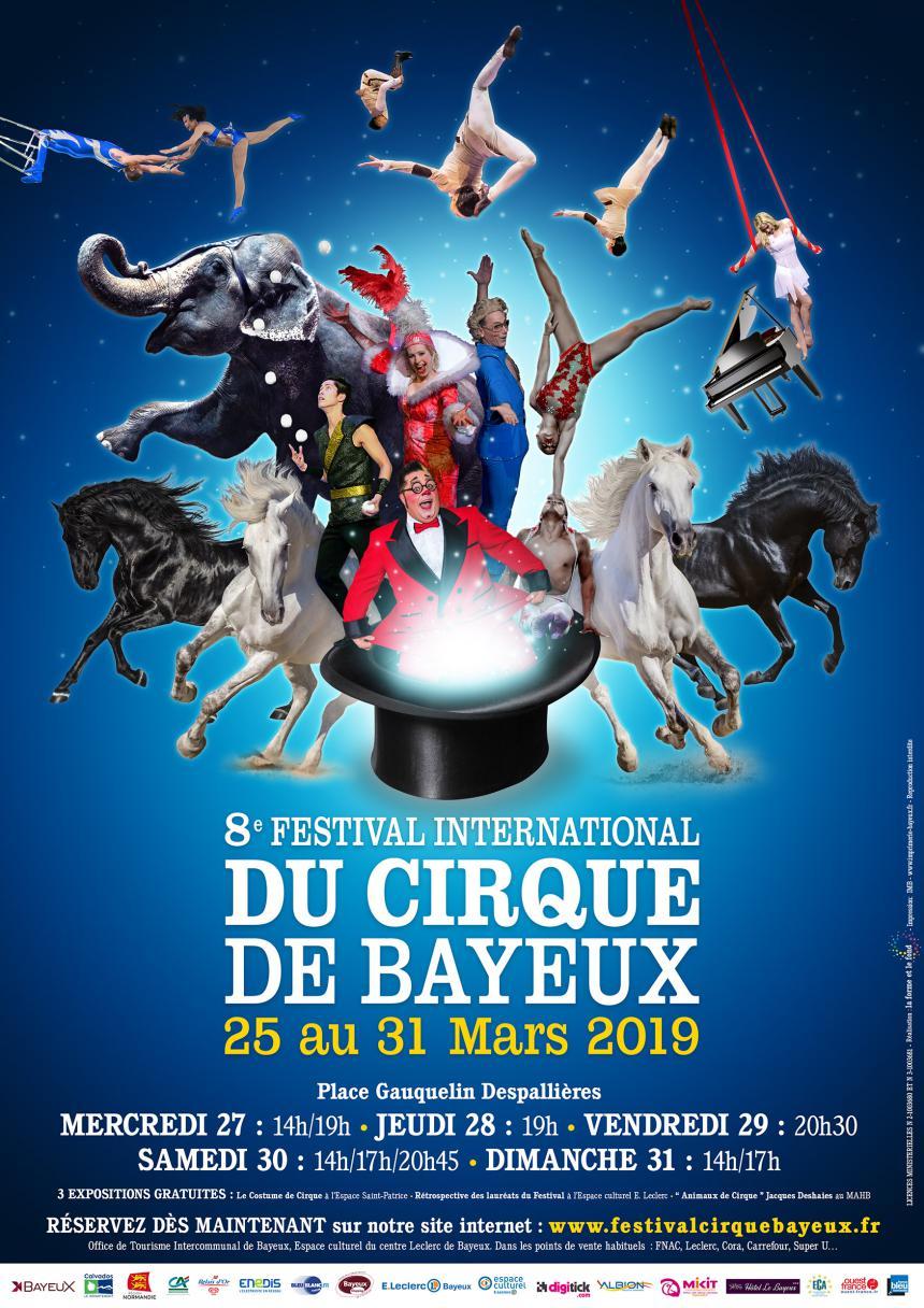 Affiche du 8e Festival international du cirque de Bayeux