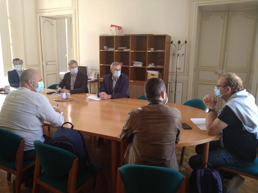 Le Maire de Bayeux reçoit la presse pour la rentrée 2021