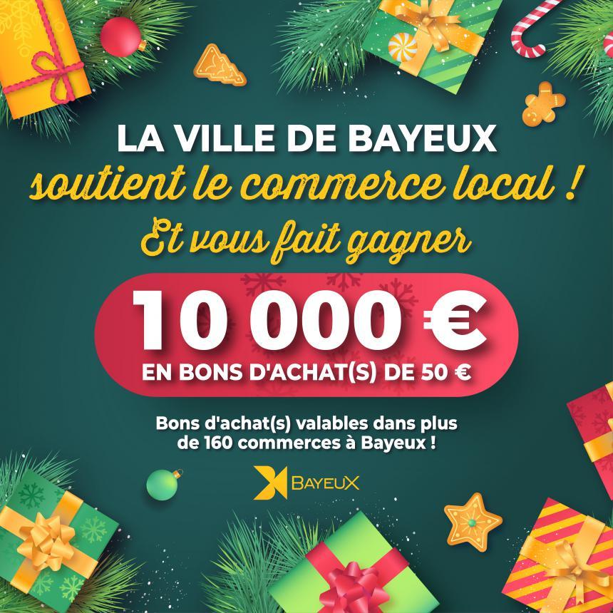 Jeu concours Bayeux soutient le commerce local