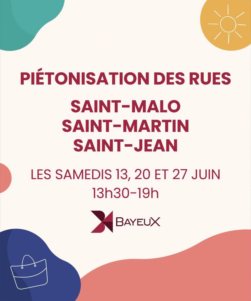 Expérimentation de la piétonisation du centre ville à Bayeux