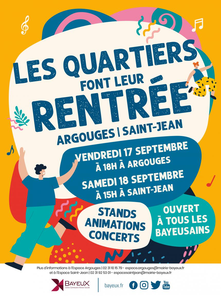 Affiche les quartiers font leur rentrée à Bayeux