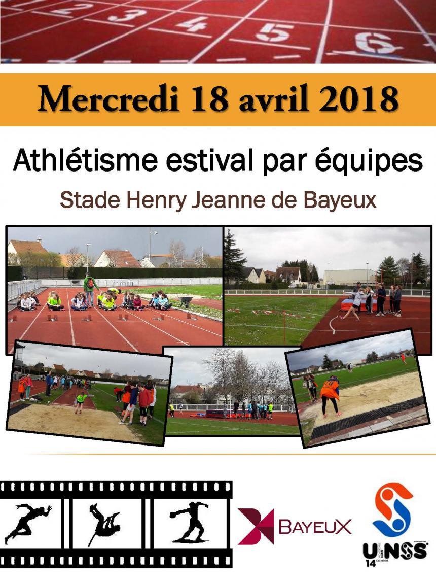 Affiche championnat académique UNSS Bayeux