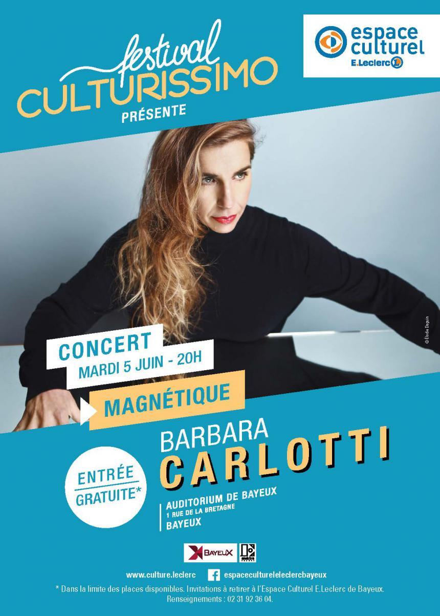 Affiche Concert Barbara Carlotti à Bayeux