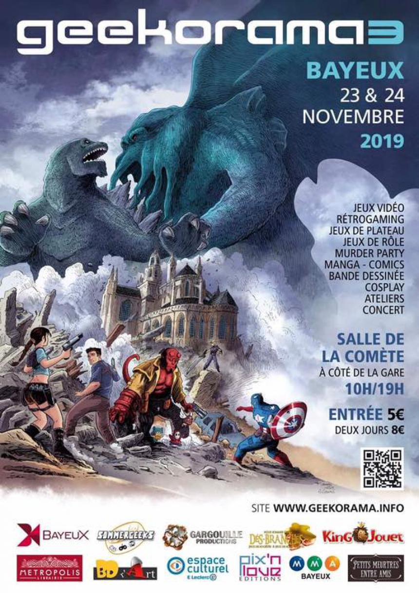 Affiche du festival Geekorama 3 à Bayeux