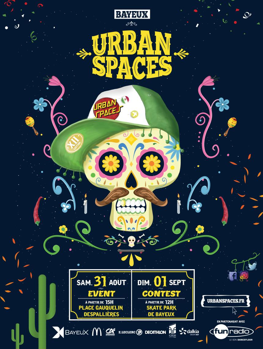 Affiche Urban Spaces 2019 à Bayeux