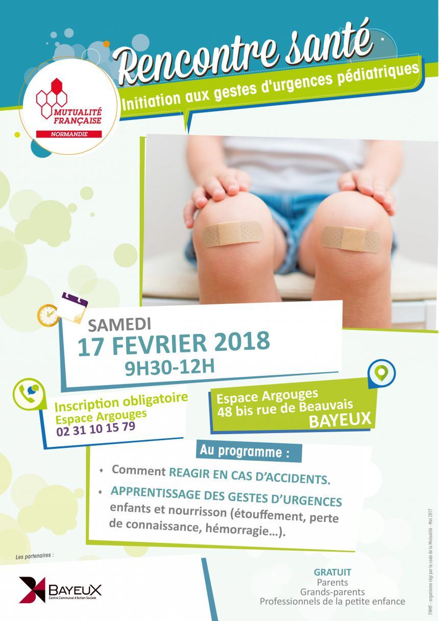 Affiche Rencontre Santé Bayeux