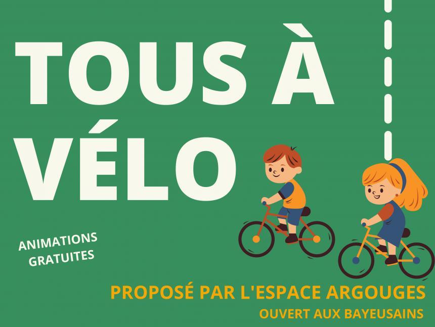 Affiche de l'action tous à vélo à Bayeux