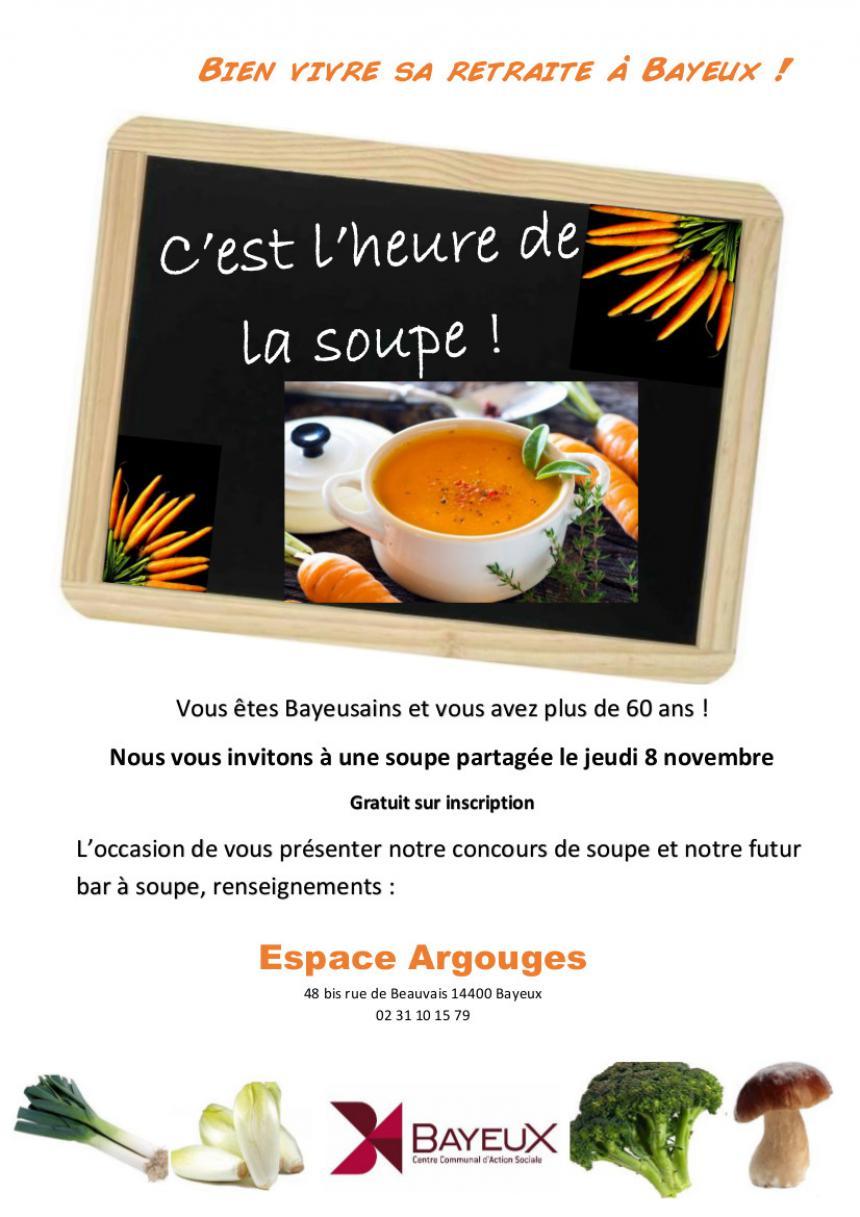 Affiche animation soupe à Bayeux