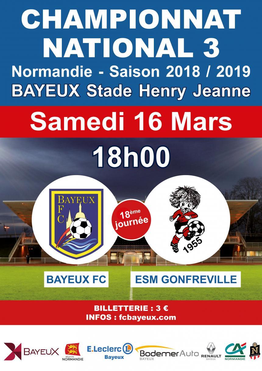 Affiche du match Bayeux - Gonfreville