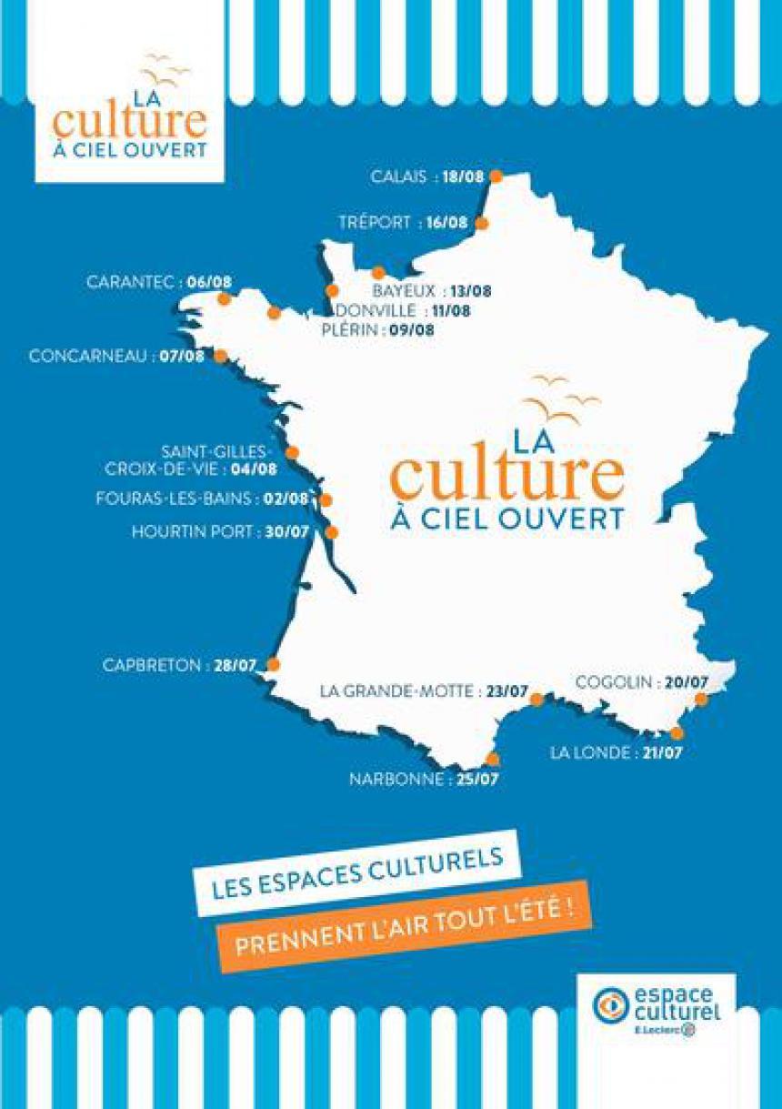 Carte tournée culturelle E.Leclerc 2018